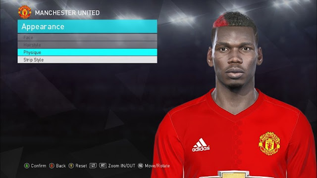 Paul Pogba Face PES 2018