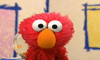Elmo presents Sesame Street Elmo's World Eyes. Guess what Elmo's thinking about today