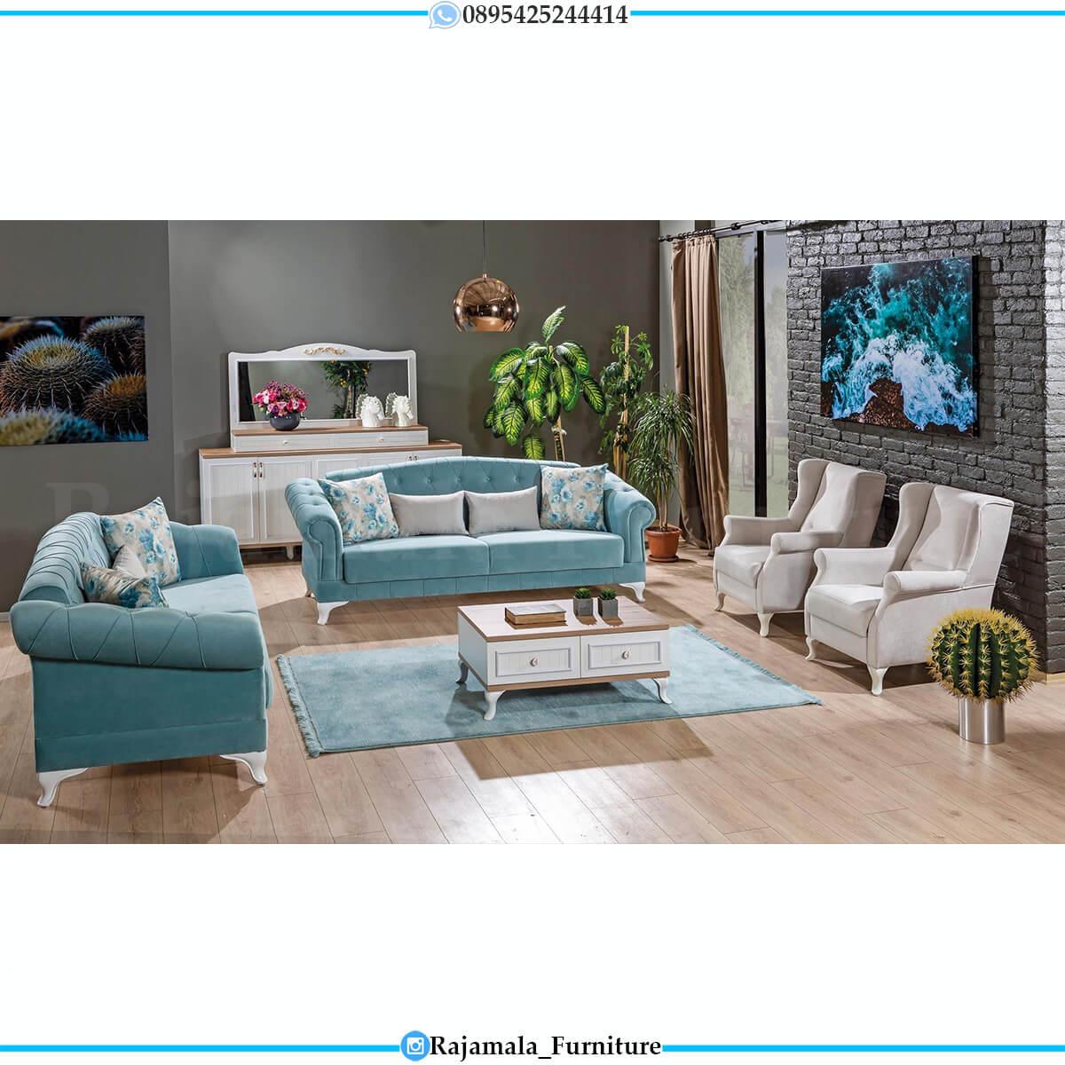 New Style Sofa Tamu Minimalis Jepara Classic Vintage Luxury Furniture RM-0617