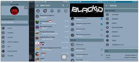BBM BlackID v3 - Bluegrey edition Apk