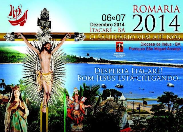 Itacaré se prepara para receber o Santuário de Bom Jesus da Lapa.