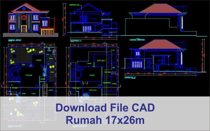 download rumah 17x26 File AutoCad