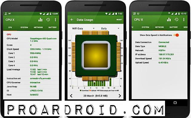 تطبيق CPU X : System & Hardware info Pro v2.6.2 لمعرفة مواصفات هاتفك الاندرويد logo
