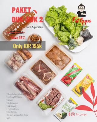 Paket Dukduk Korean BBQ Fat Oppa Bandung