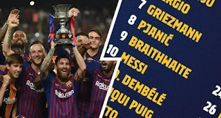 Official: Barca reveal 21-man squad for Spanish Super Cup