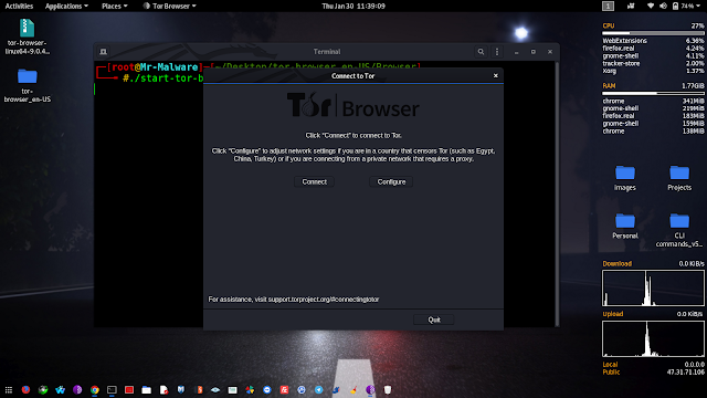 Kali Linux | Installing Tor Browser in Kali Linux without any error
