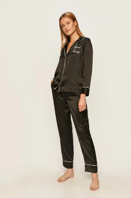 Brave Soul - Pijama neagra din material fin eleganta