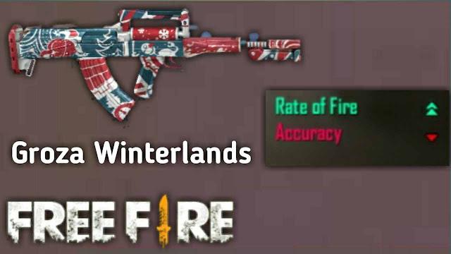 Banyak Dipakai! Inilah 8 Skin Senjata Jarak Jauh (Berpeluru AR) Paling Mematikan di Game Free Fire, groza winterlands