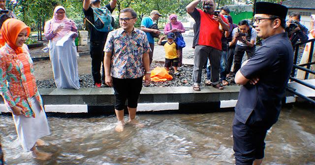 Anggaran Rp4 Miliar, Ridwan Kamil Bangun Kolam Renang di Rumah Dinas