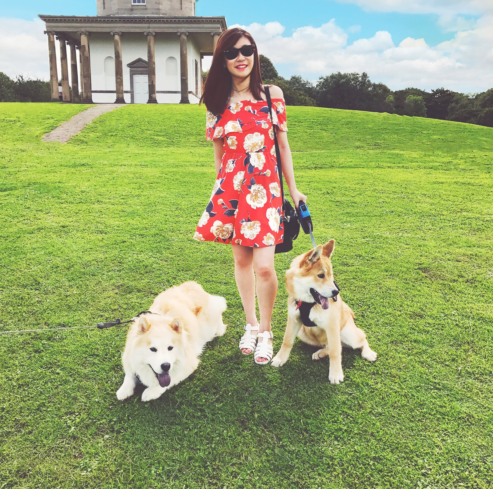 Red Floral Off-The-Shoulder Dress, uk fashion blogger