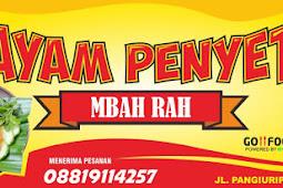 Template Banner Ayam Penyet Vektor CDR