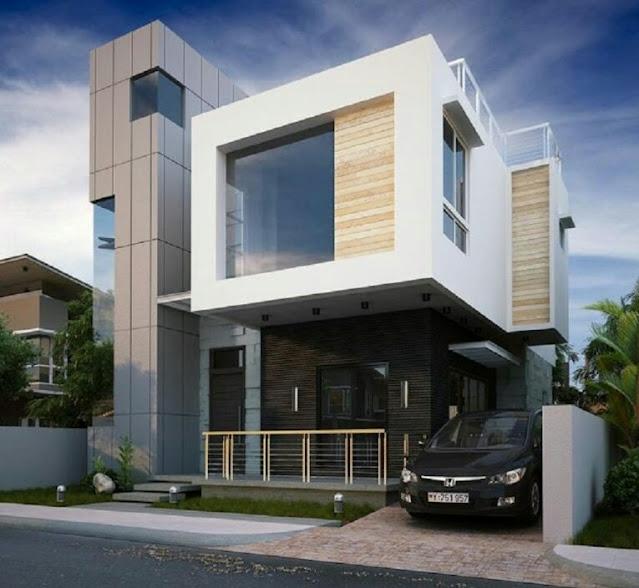 Glass Wall 2 Floor House Design