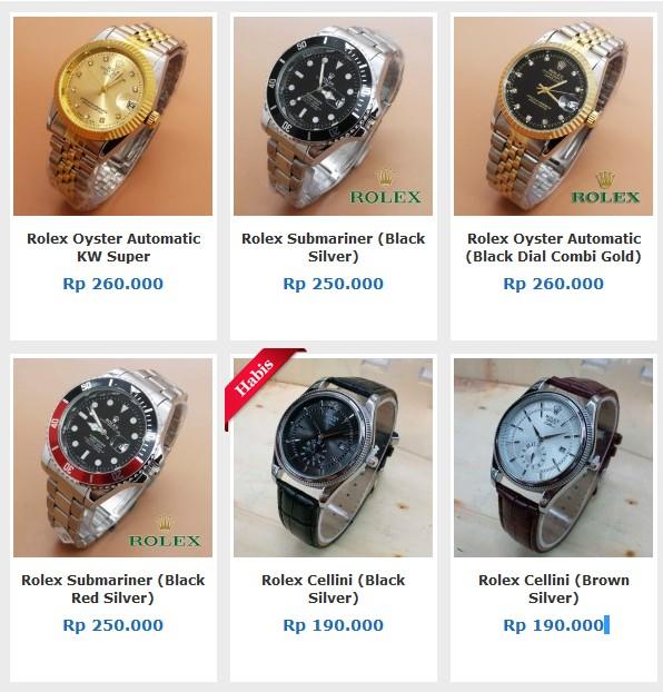 Daftar Harga Jam Tangan Rolex KW Paling Lengkap Terbaru
