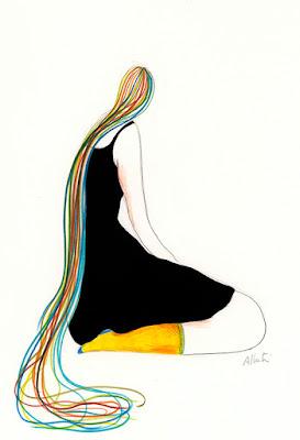 Ilustración realizada por la ilustradora suiza Albertine