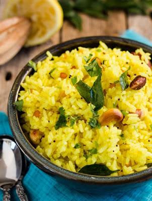 Arroz Indiano com Castanhas, Limão e Especiarias (vegana)