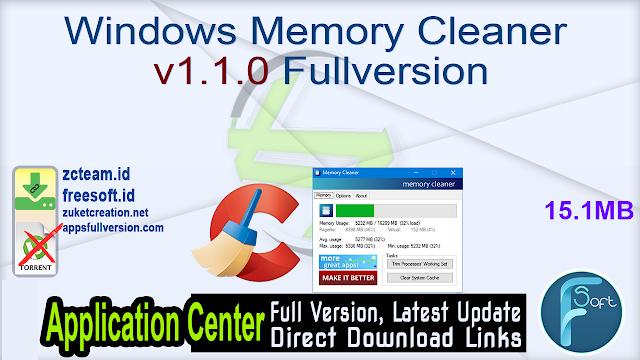 Windows Memory Cleaner v1.1.0 Fullversion
