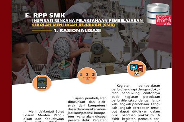 RPP SMK 1 Halaman Resmi dari Pusat Kurikulum Kemendikbud, Download RPP Inspiratif 1 Halaman jenjang SMK/MAK Resmi dari Pusat Kurikulum Kemendikbud