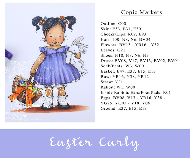 Heather's Hobbie Haven - Color Wednesday - Easter Carly