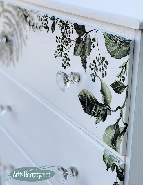 close up fern transfer Redesign by prima dresser makeover