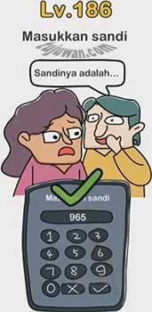 Masukkan Sandi Brain Out Jawaban Enter Password Level 186