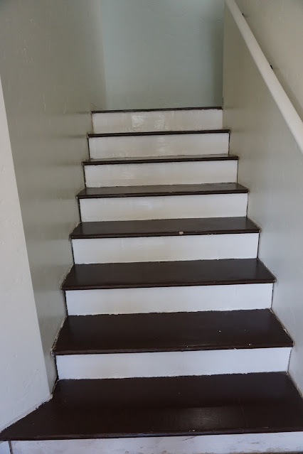Refinished OSB stairs with join compound