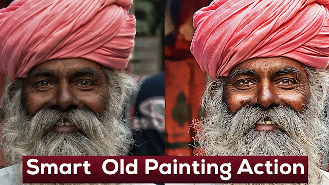 Smart Old Painting Photoshop Action Free Download