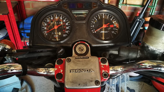 Honda CX500 Motorcycle Instrument Cluster