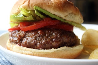 Grilled Bacon Meatloaf Burgers