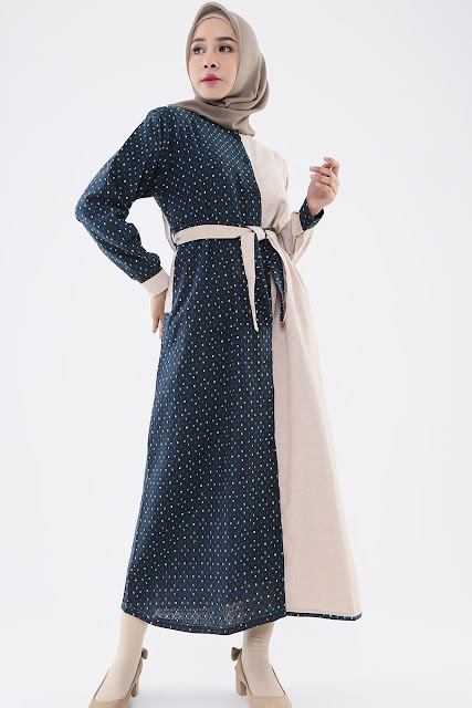 Model Gamis Two-tone Color