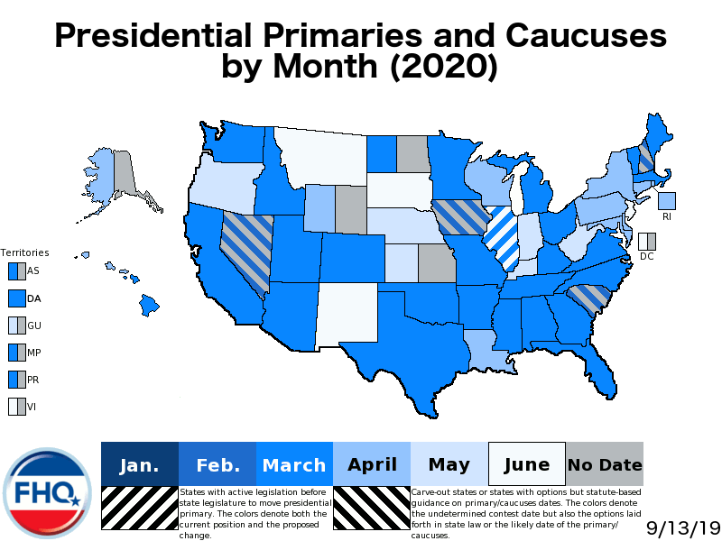 New Jersey Primary 2020.Frontloading Hq The 2020 Presidential Primary Calendar