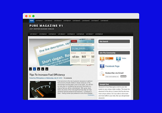 Pure mag blogger template Free Download |