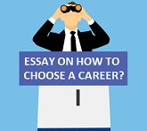 ESSAY ON HOW TO CHOOSE A CAREER