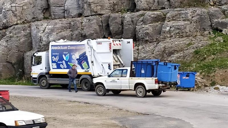 Αντικατάσταση μπλε κάδων ανακύκλωσης στο Δήμο Σαμοθράκης