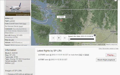 Radar lotniczy - historyczny lot SP-LRA