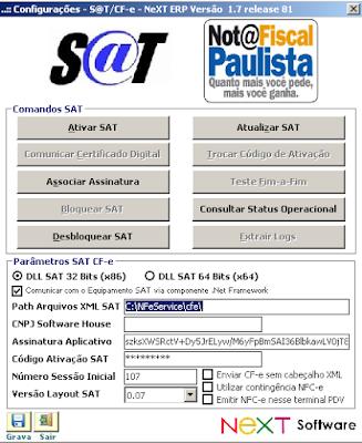 NeXT ERP SAT Contingência NFC-e