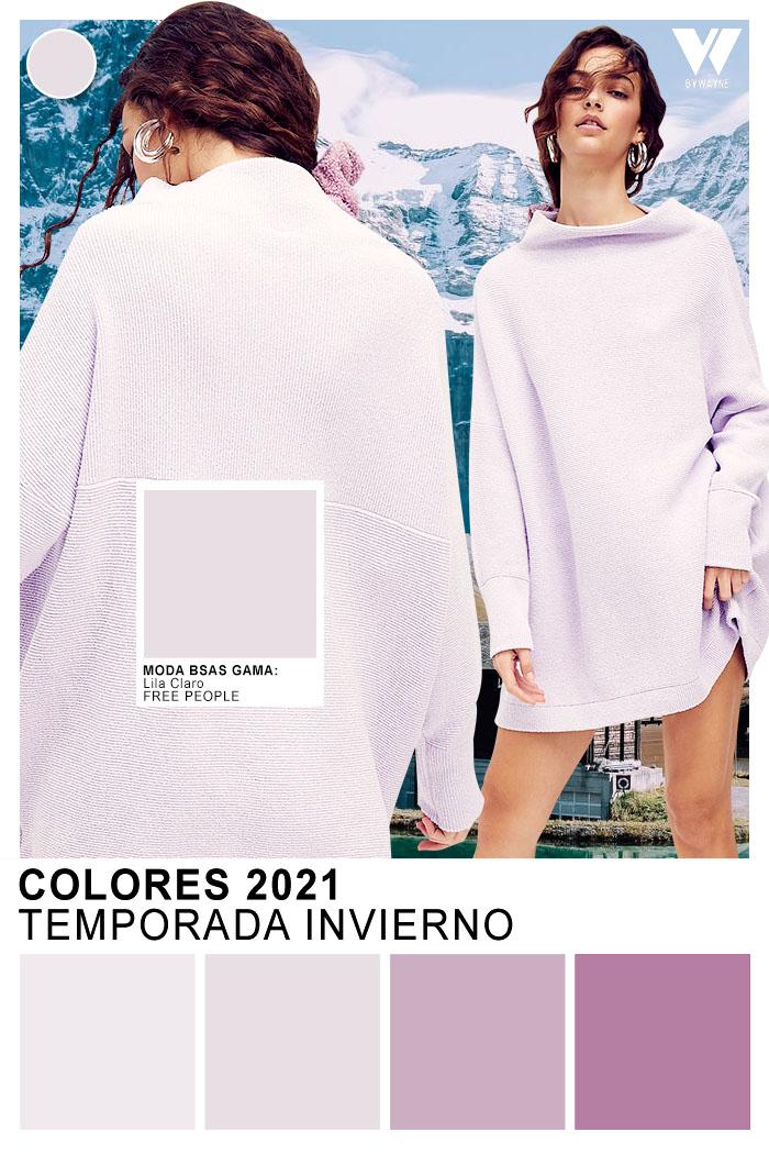 colores invierno 2021 Lila Claro color de moda 2021