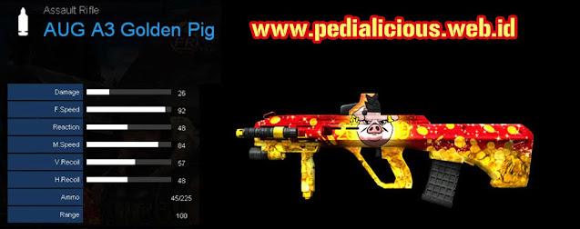 Detail Statistik AUG A3 Golden Pig