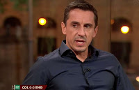 ENGLAND FANS ADORE GARY NEVILLE'S REACTION TO THE COLOMBIA COACH BARGING RAHEEM STERLING -
