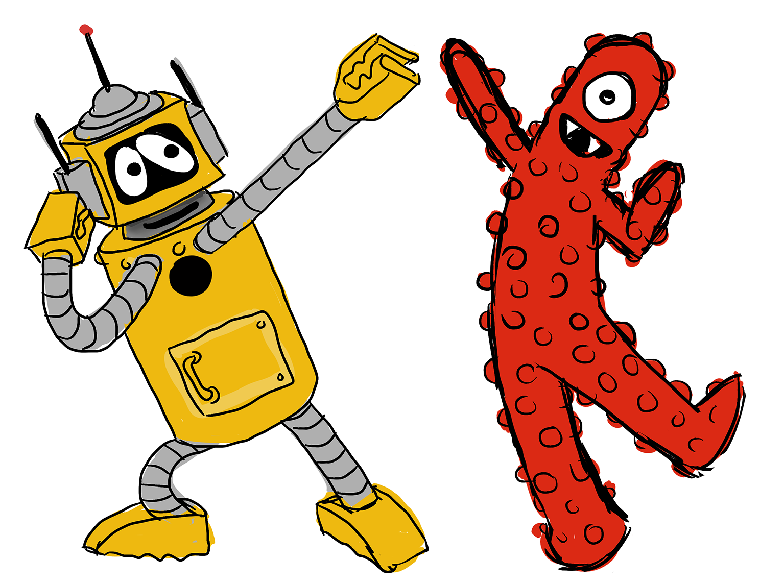 Yo Gabba Gabba Muno Drawing