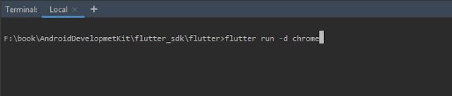 flutter web run on android studio