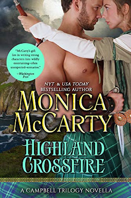 Review: Highland Crossfire: A Campbell Trilogy Novella, by Monica McCarty, 3 stars