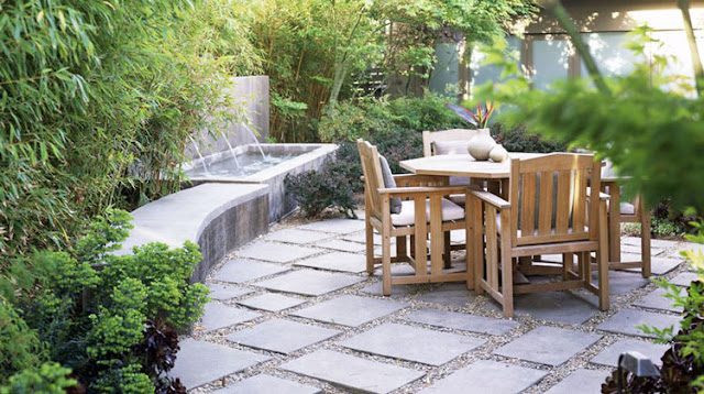 Villa courtyard paving design how to choose paving materials
