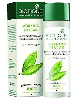 Biotique morning nector fawnless skin lotion