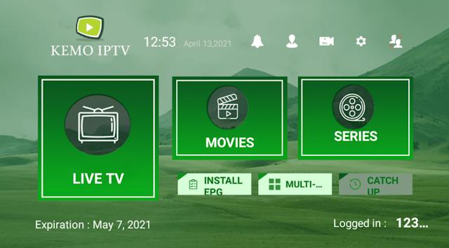 Kemo IPTV مع أكواد مميزة تسجيل الدخول IPTV APK