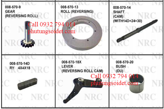 Shaft (Cam_ (WWith14D+24+30) 008-57-14 RY 4x4x18008-57-14D Lever (Reversing roll cam) 008-57-18X Bush (Du) 008-57-20 Hub (Roll) 008-57-22 Key 008-57-24
