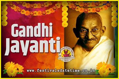 2026 Gandhi Jayanti Date and Time, 2026 Gandhi Jayanti Calendar