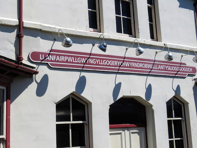 North Wales Points of Interest: Llanfairpwllgwyngyllgogerychwyrndrobwllllantysiliogogogoch Train Station (town with the longest name in the world)
