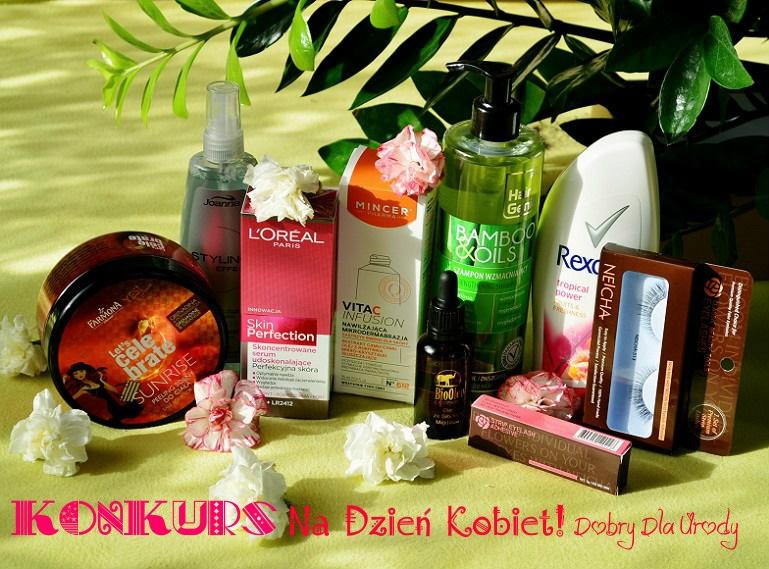 Kobiecy KONKURS z okazji Dnia Kobiet - wygraj zestaw mega kobiecych kosmetyków