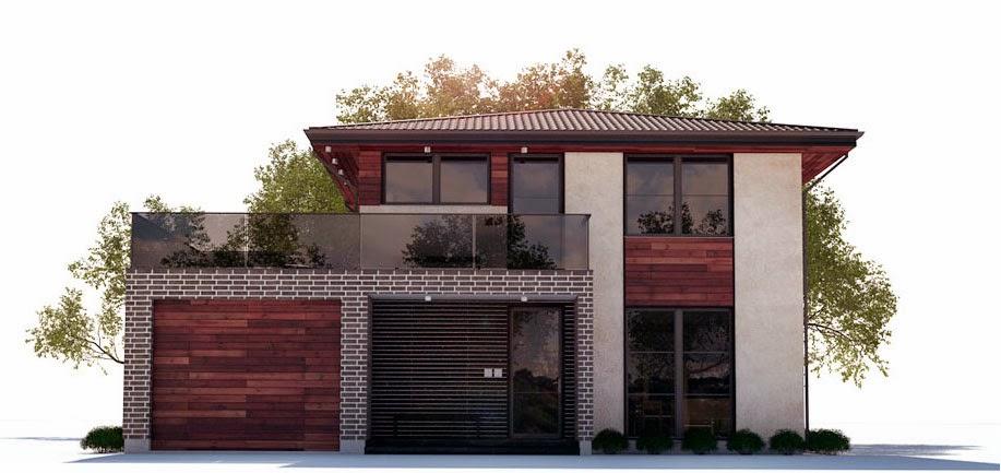 Planos de casa moderna 2 plantas planos de casas gratis for Viviendas sobre terrazas