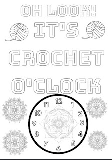 Free Printable Coloring Page Crochet